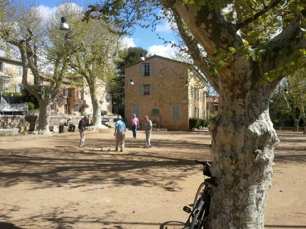 boules in Provencal village