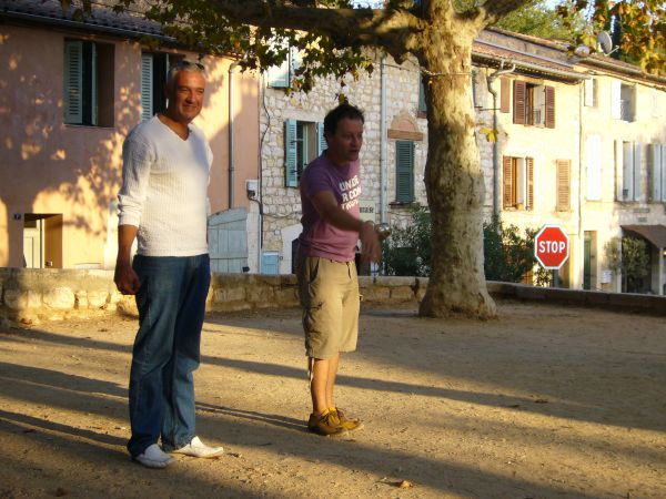 evening game of boules in Provence