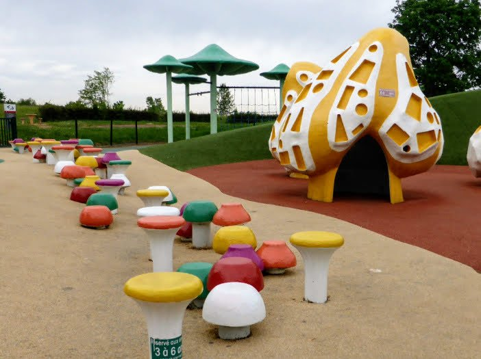 children's play area on motorway