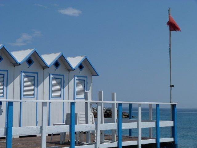 beach huts bordighera tri-nation vacation