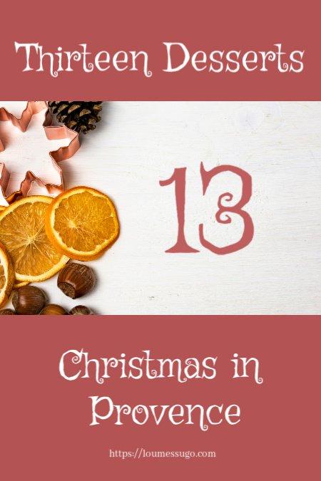 13 desserts Provence