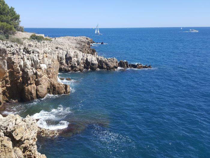 Coast walk Cap d'Antibes cliffs