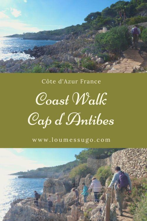 coast walk Cap d'Antibes Côte d'AZur
