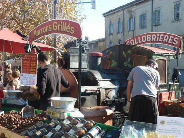 Vintage Christmas market chestnut roaster