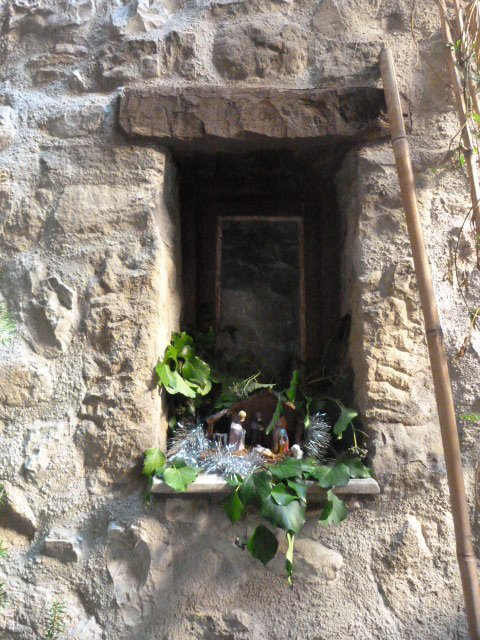 luceram nativity creche in window