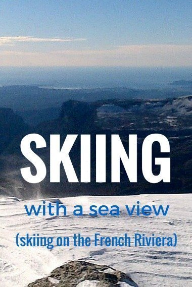 skiing on the French Riviera