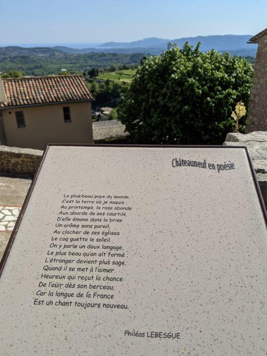 village en poésie Châteauneuf poem with view