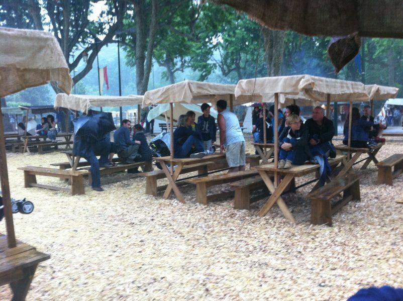 rain at village fête