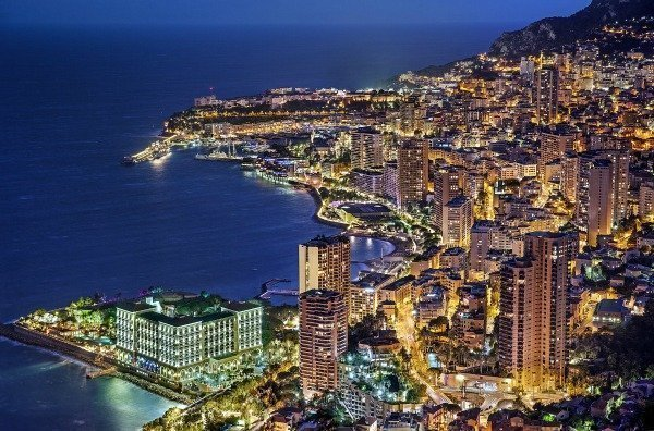 Monaco at night Americans French Riviera | Lou Messugo