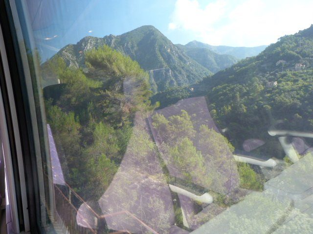 view of mountains from mountain train