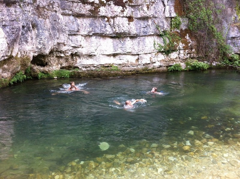swimming in river Loup near Lou Messugo
