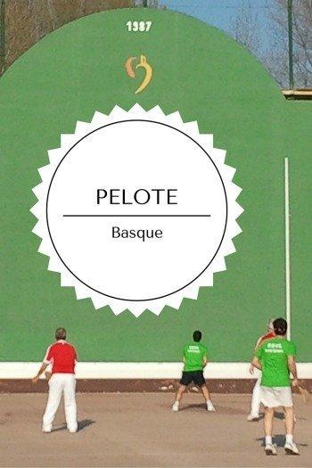 PELOTE BASQUE racquet sport