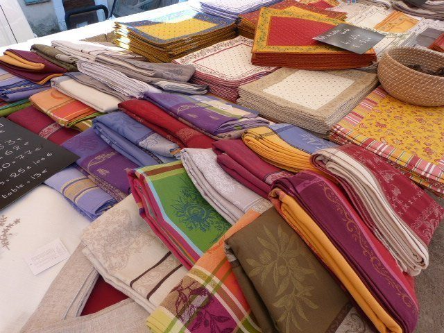 Market in Provence tablecloths