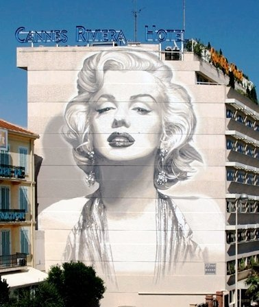 Cannes wall Marilyn Monroe