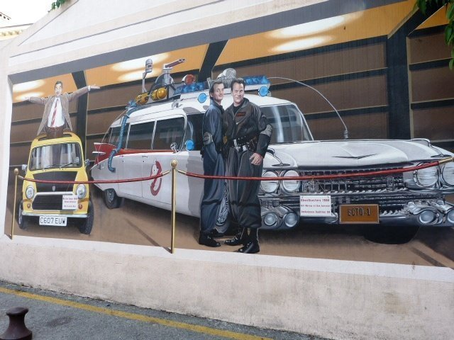 Cannes wall painting Ghostbusters