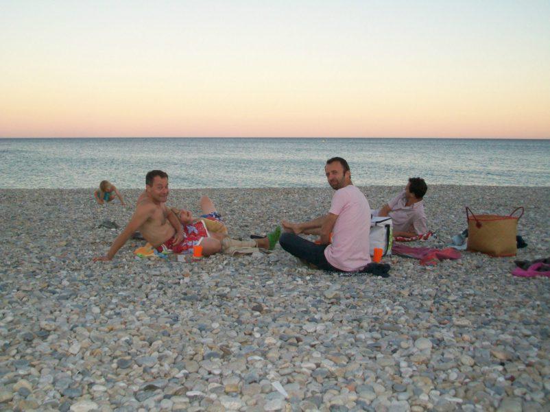 pebble beach evening picnic