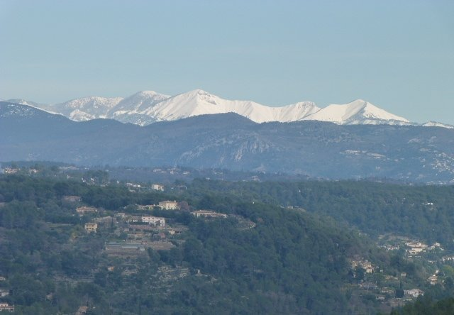 view of Alps from Roquefort les Pins
