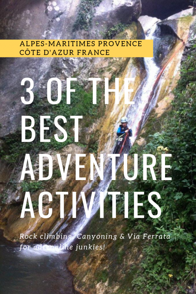 3 best adventure activities near Nice