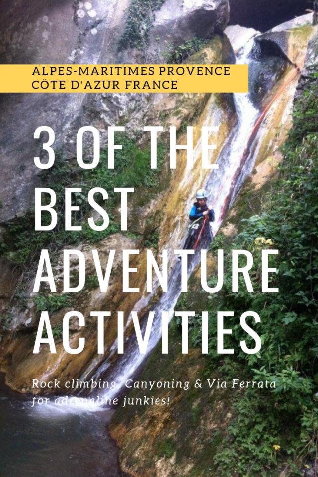3 best adventure activities near Nice