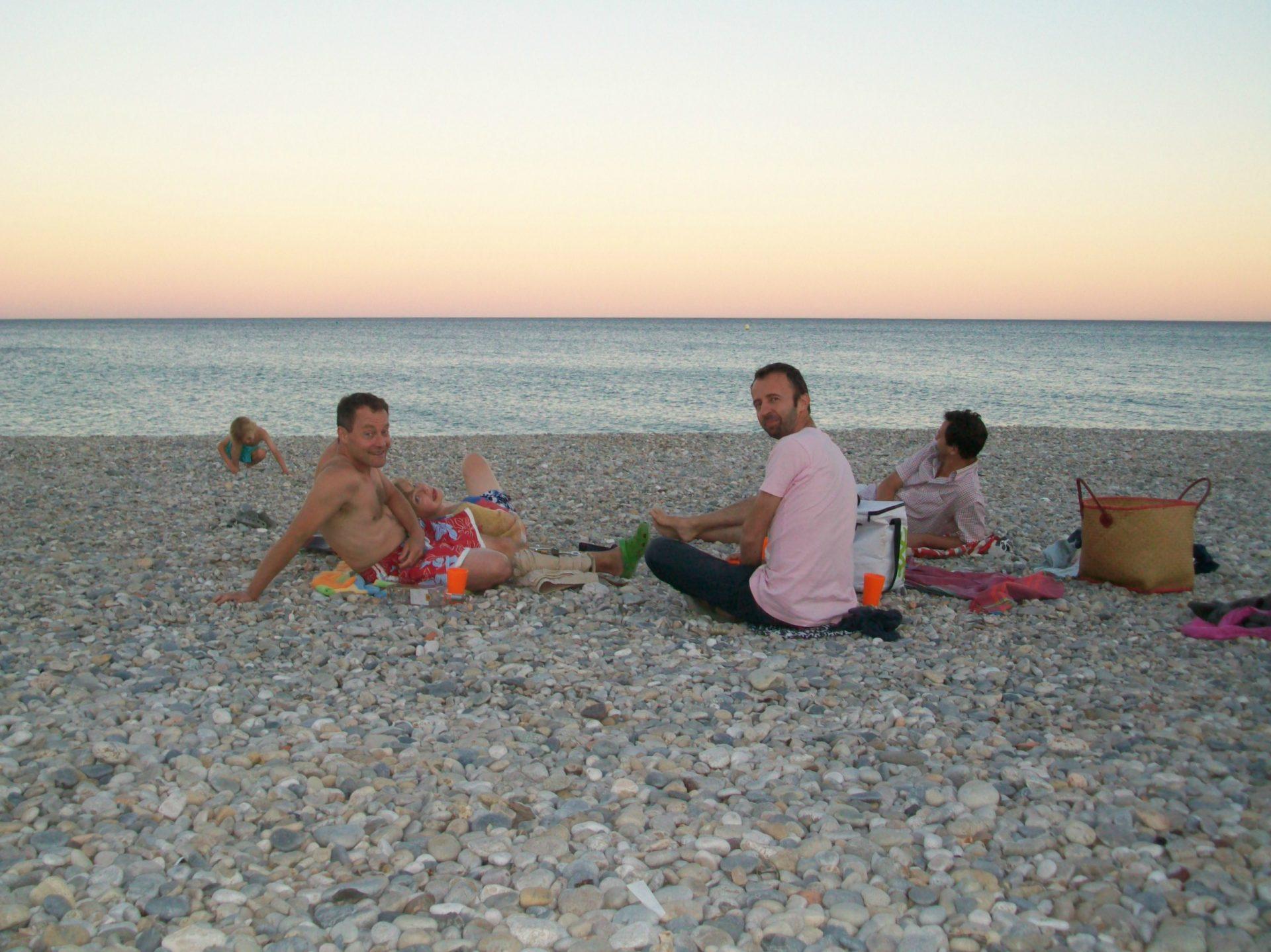 picnic rosy beach