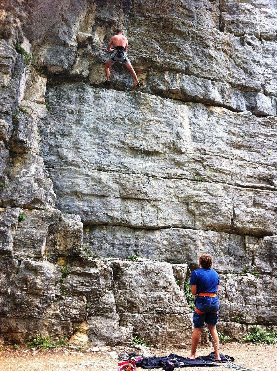 rock climbing la colle sur loup