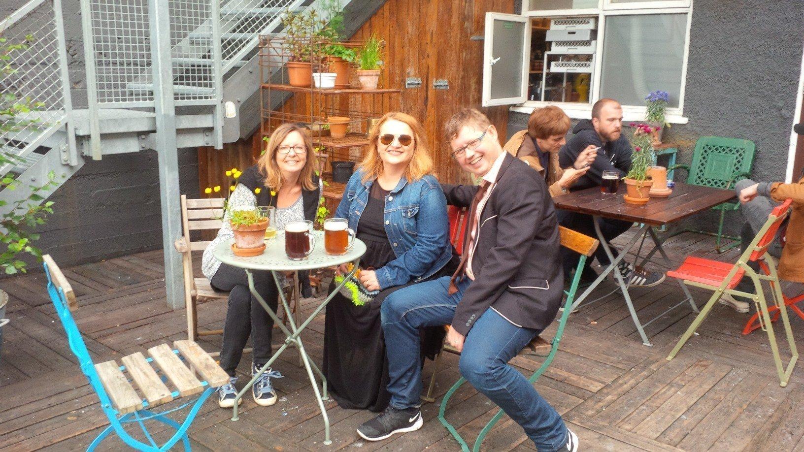 beers at Kex Hostel Reykjavik