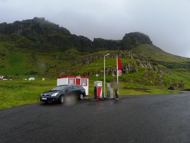 isolated petrol pump in Iceland