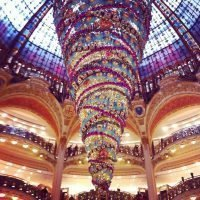 Christmas decorations Galeries Lafayette Paris
