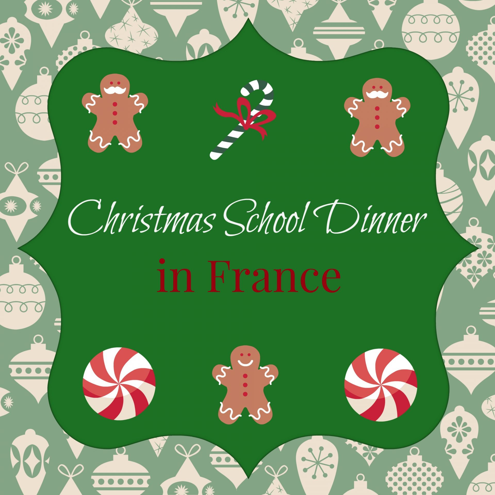 School Christmas Dinner, in France