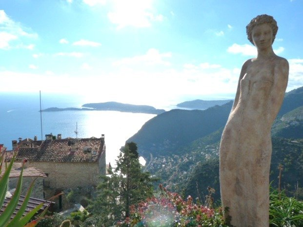 view from exotic gardens of Eze
