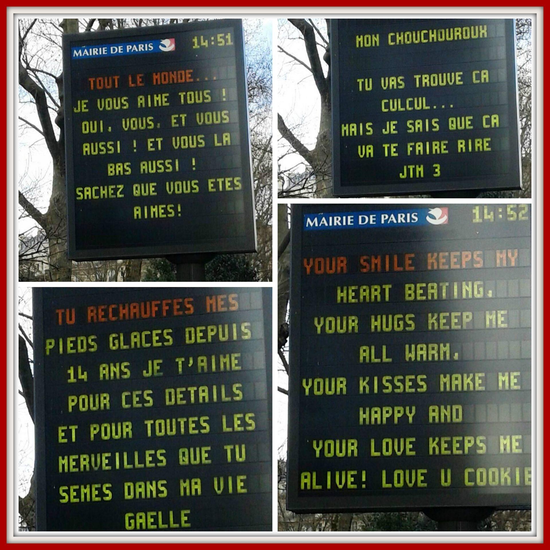 Paris Valentines Day messages