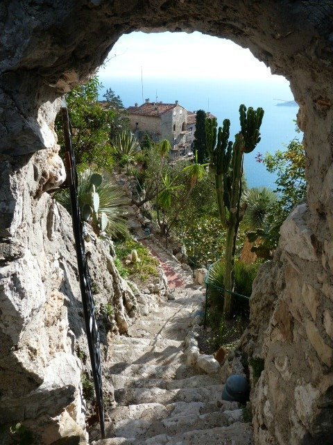 pathway in botanic gardens Eze French Riviera