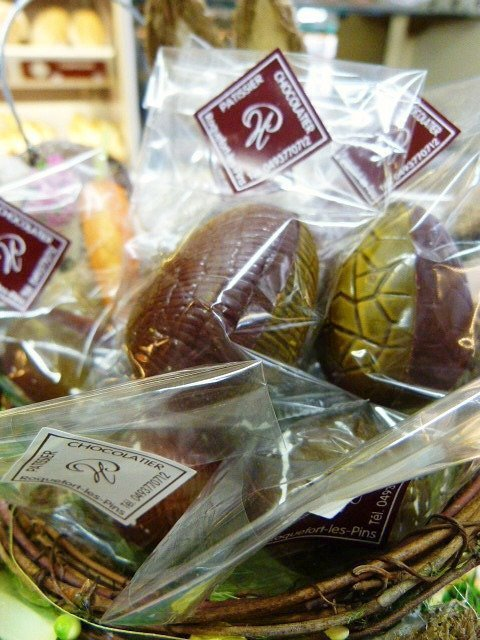 Easter eggs in Roquefort les Pins France