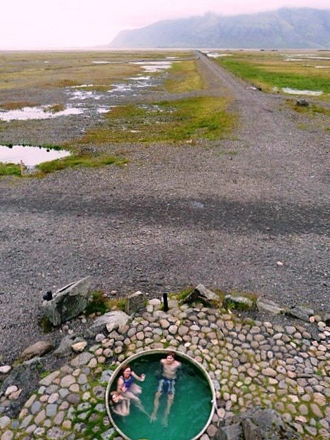 Hoffell hot tubs near Hofn Iceland