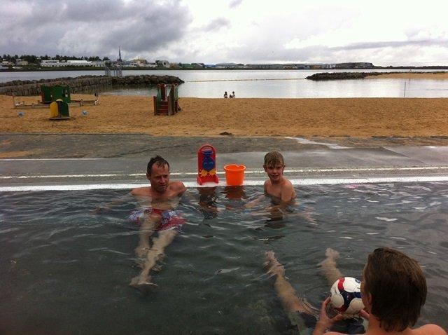 Nautholsvik beach hot pot Reykjavik
