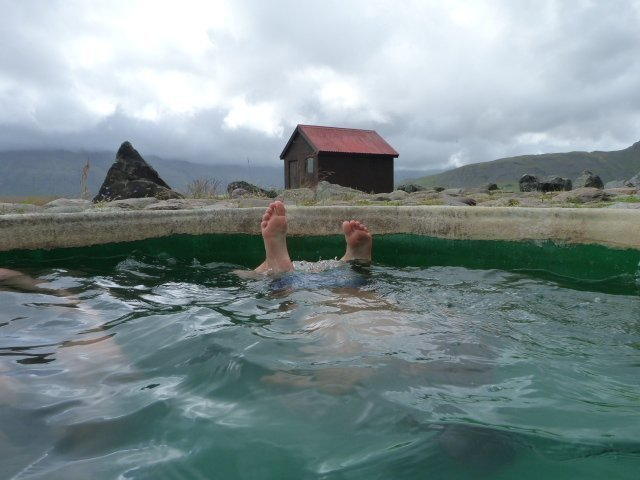 hot pot near Hofn Iceland