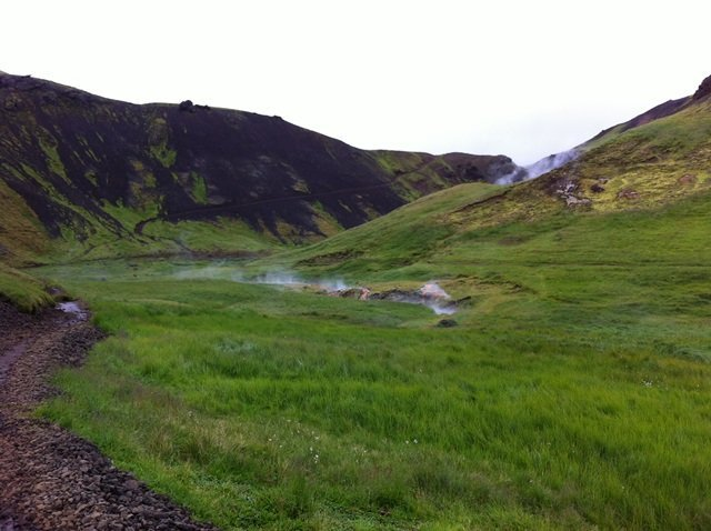 natural hot river in Iceland 1