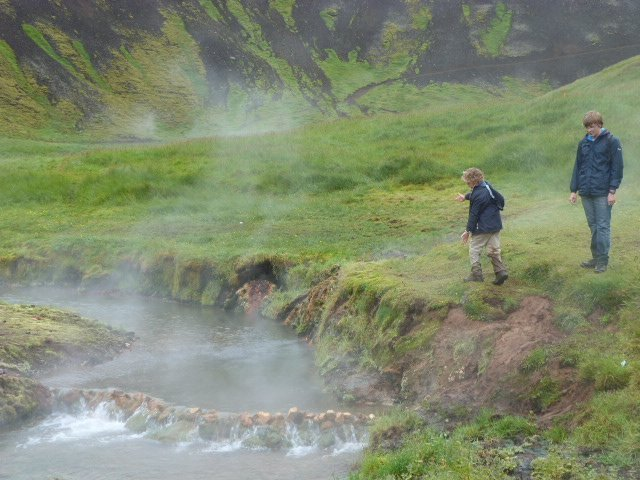 natural hot river in Iceland 2