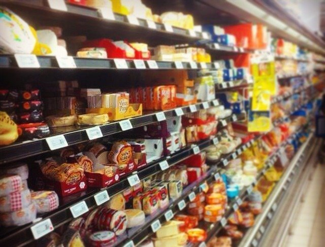 cheese in French supermarket