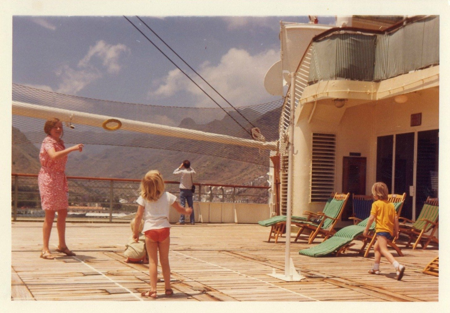 onboard ship playing quoits in Tenerife