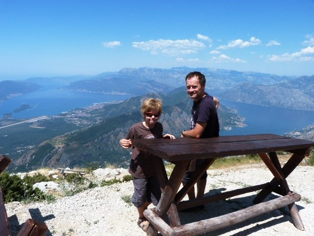 Lovcen road admiring the view