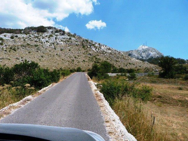Lovcen road built up high