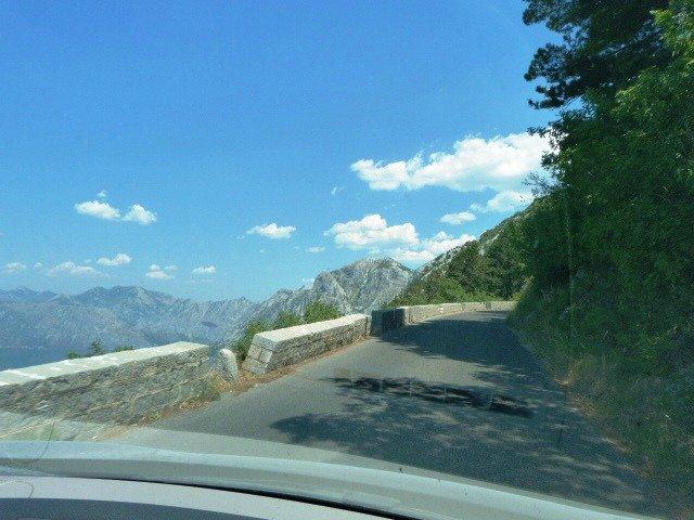 Lovcen road often single track