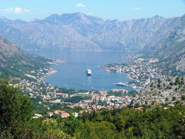Lovcen road Montenegro looking down on Bay of Kotor