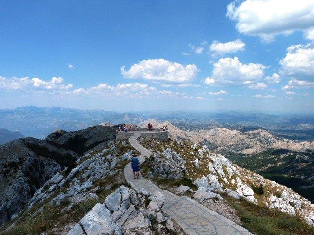 Njegos mausoleum Montenegro path to lookout