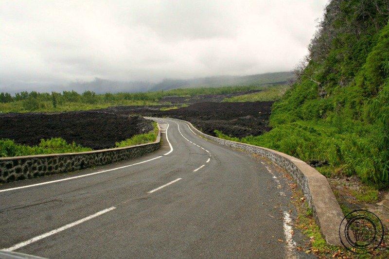Reunion island lava