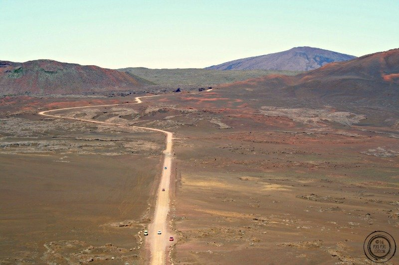 Reunion island lava field