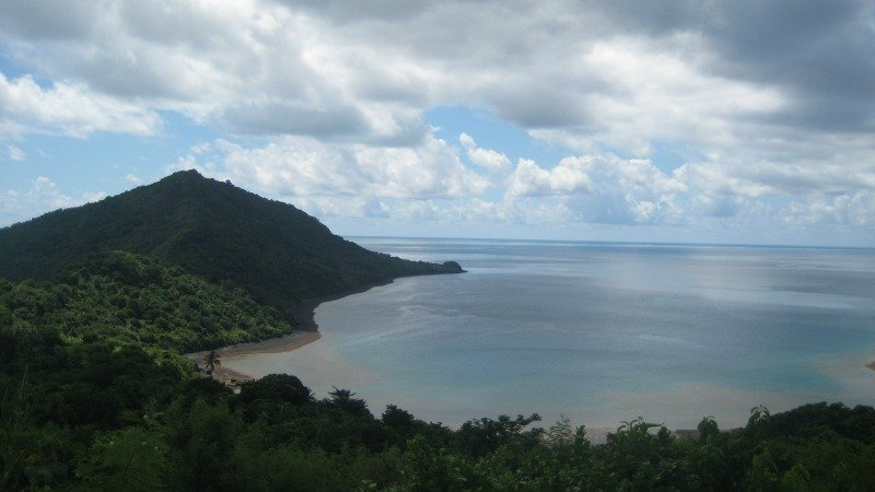 View of the lagoon in Mayotte