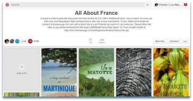 Pinterest All About France group board