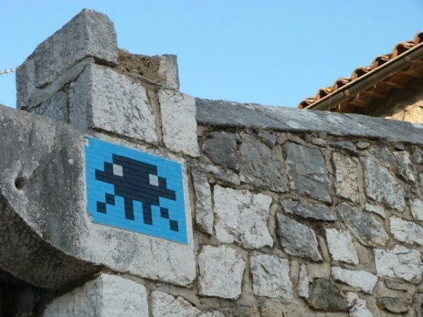Space Invader in St Paul de Vence